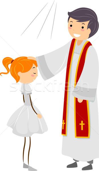 Potwierdzenie ilustracja dziewczyna człowiek kobiet religii Zdjęcia stock © lenm