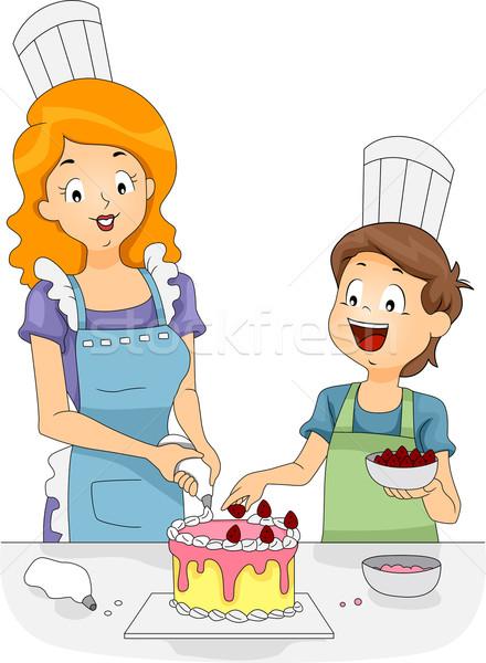 Cake Decoration Stock photo © lenm