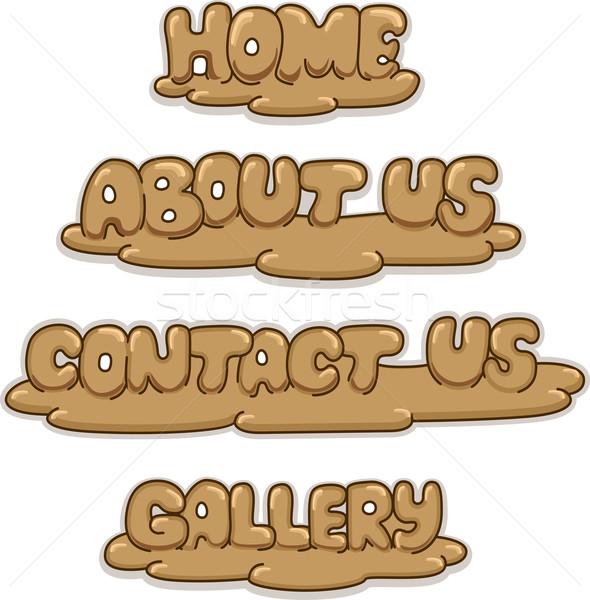 Argilla scultura pulsanti illustrazione web legno Foto d'archivio © lenm