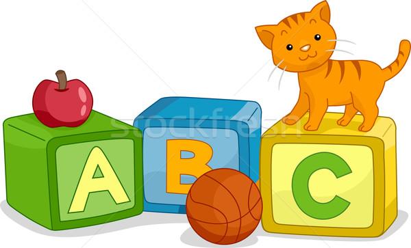 Alphabet Learning Blocks Stock photo © lenm