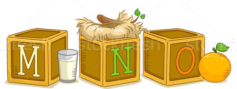 Wood Blocks MNO Stock photo © lenm