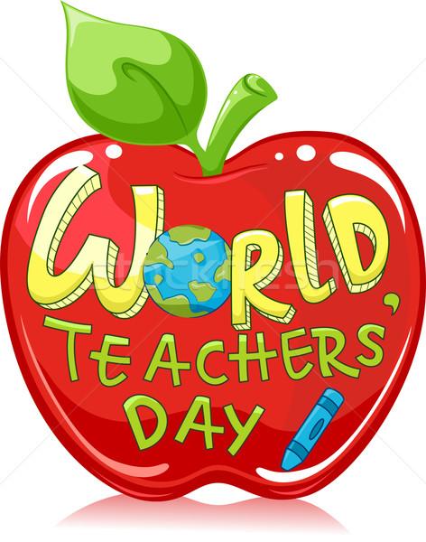 World Teachers' Day Apple Stock photo © lenm