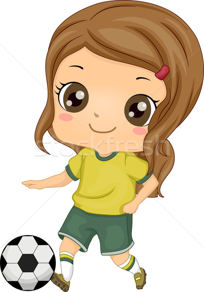 Kid Soccer Girl Stock photo © lenm