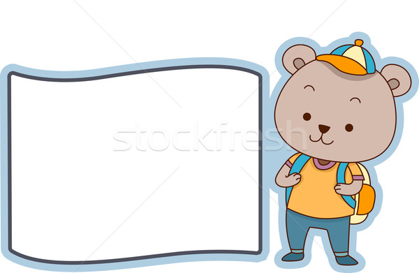 Bear Label Stock photo © lenm