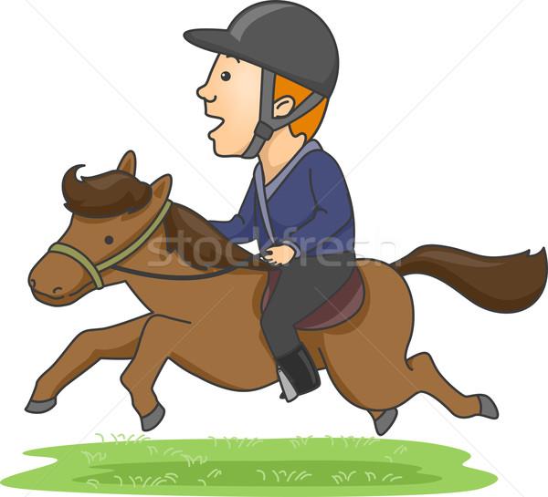 Male Equestrian Stock photo © lenm