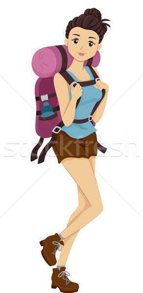 Hiker Girl Stock photo © lenm