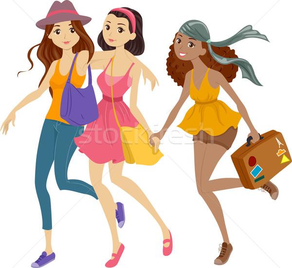 Travel Girls Stock photo © lenm