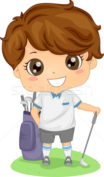 Golf Boy Stock photo © lenm