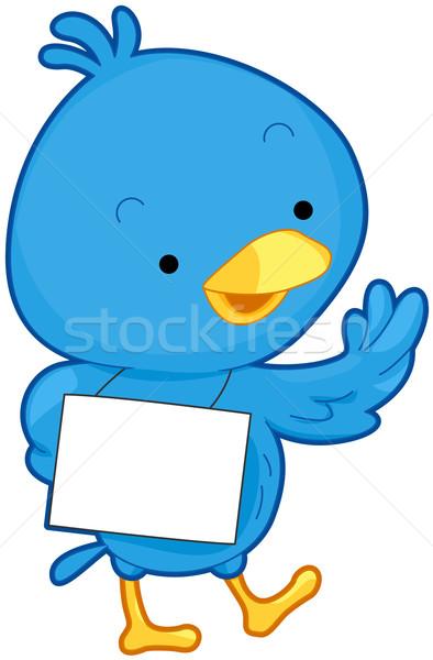 Bird Message Stock photo © lenm