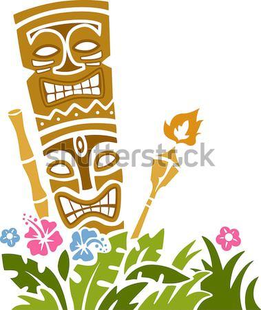 Banner illustrazione spiaggia isola nastro cultura Foto d'archivio © lenm