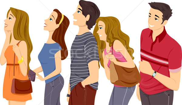 Teen Line Up Stock photo © lenm