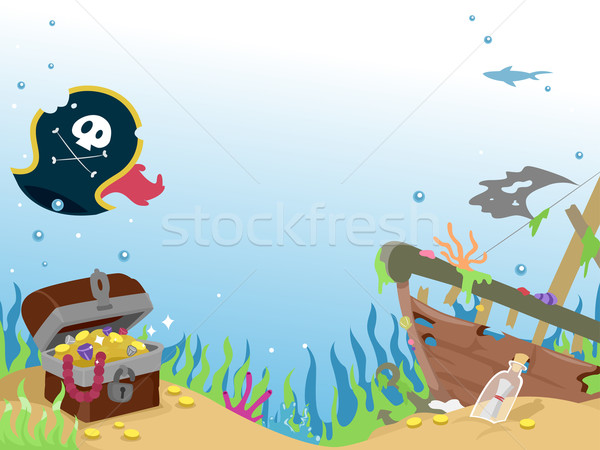 Underwater Pirate Wreck Ship Stock photo © lenm