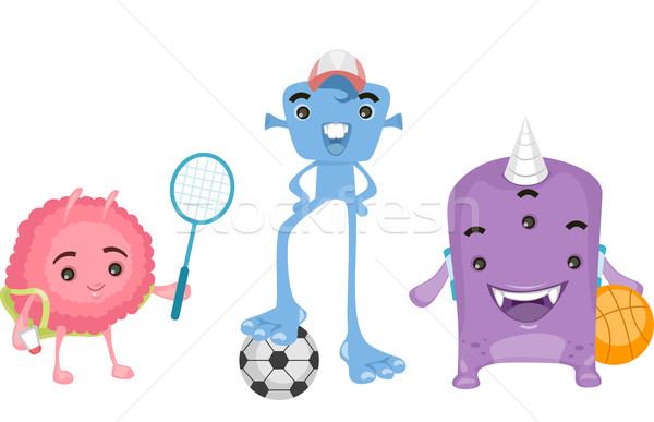 学生 スポーツ 実例 かわいい 演奏 ストックフォト © lenm
