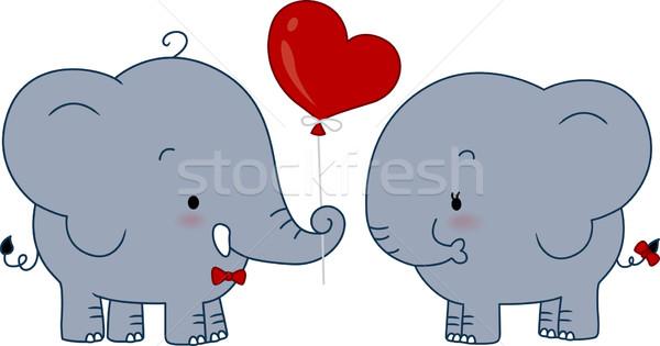 Elephant Couple Stock photo © lenm