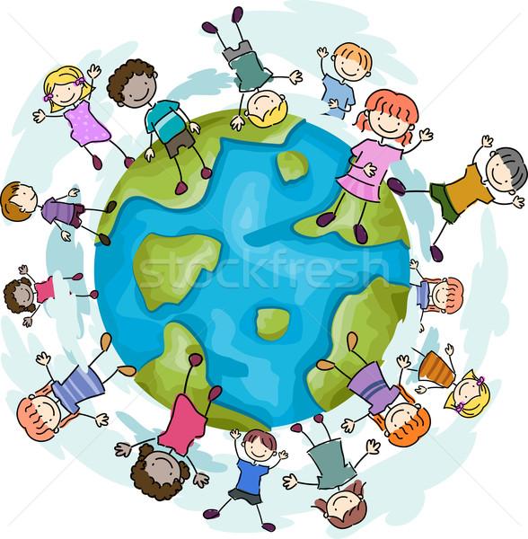 Happy Kids Stock photo © lenm