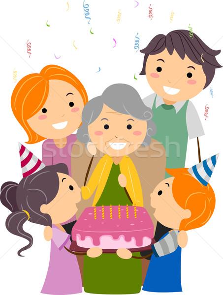 birthday grandma vector illustration lenm 980969 stockfresh
