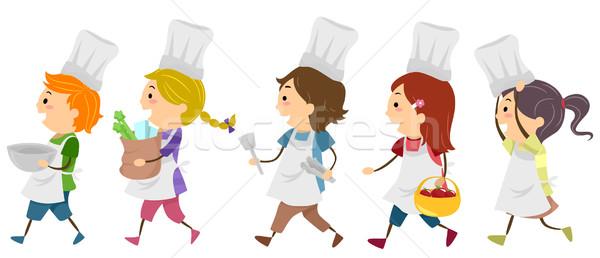 Cozinhar crian as classe crian a chef menino ilustra o de vetor lenm 1942324 - Decoratie de la cuisine foto gratuit ...