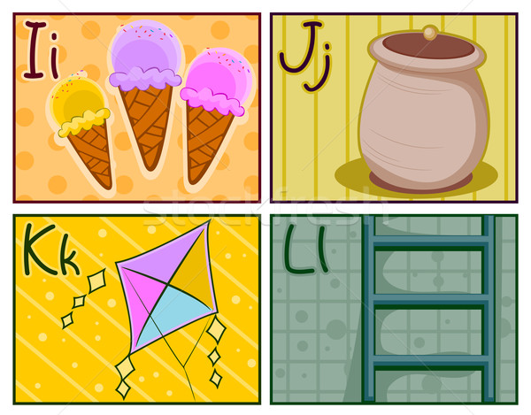 Flash design gelato carte Foto d'archivio © lenm