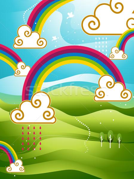 Arcobaleni design natura montagna wallpaper colori Foto d'archivio © lenm