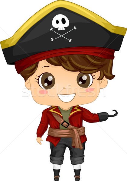 Pirate costume illustration garçon art Photo stock © lenm