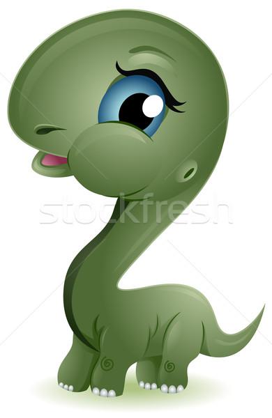 Baby Brontosaurus Stock photo © lenm