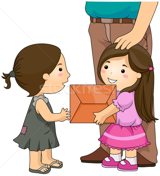 Charitable Kid Stock photo © lenm
