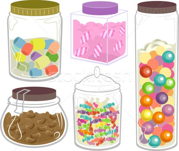 甜食 糖果 瓶 插圖 寬 商業照片 © lenm