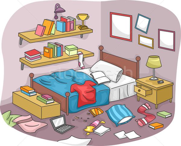 комнату иллюстрация частей мусор жизни Сток-фото © lenm