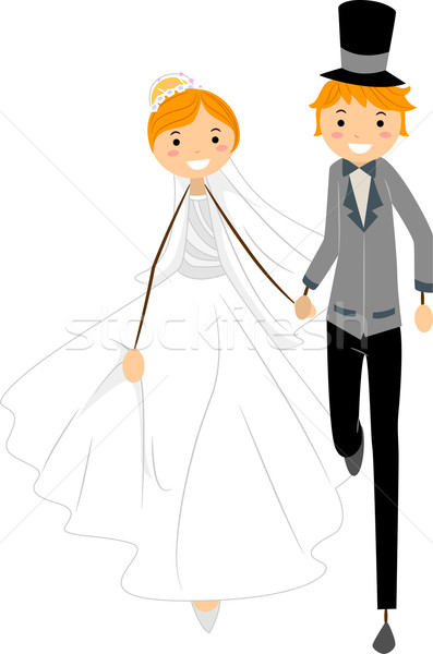 Wedding Run Stock photo © lenm