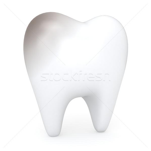 Egészségtelen fog 3d illusztráció egészség fekete fogorvos Stock fotó © lenm