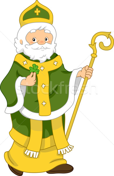 Illustration saint vacances Homme Shamrock vecteur Photo stock © lenm