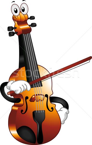 Photo stock: Violon · mascotte · illustration · arc · musique