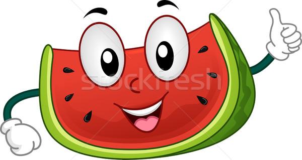Melancia mascote ilustração fruto dieta Foto stock © lenm