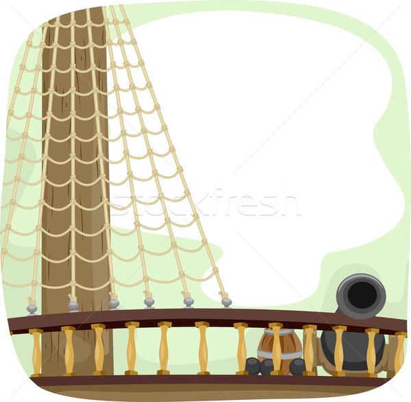 Ship Deck Cannon Stock photo © lenm