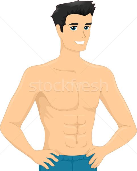 Mann Illustration männlich guy isoliert Stock foto © lenm