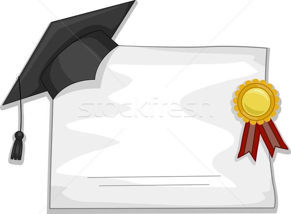 Graduation Diploma Stock photo © lenm