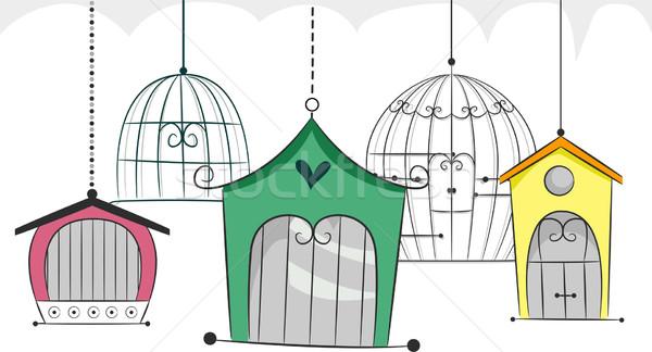 Bird Cage Stock photo © lenm