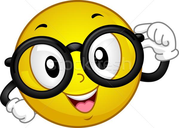 スマイリー 実例 着用 眼鏡 オタク アイコン ストックフォト © lenm