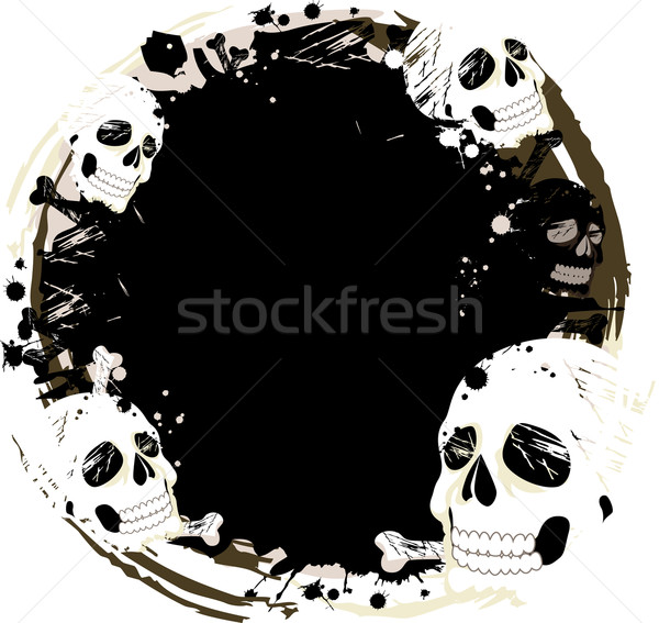 Skull Frame Grunge Design Stock photo © lenm