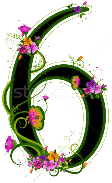 Floral Numbers Stock photo © lenm