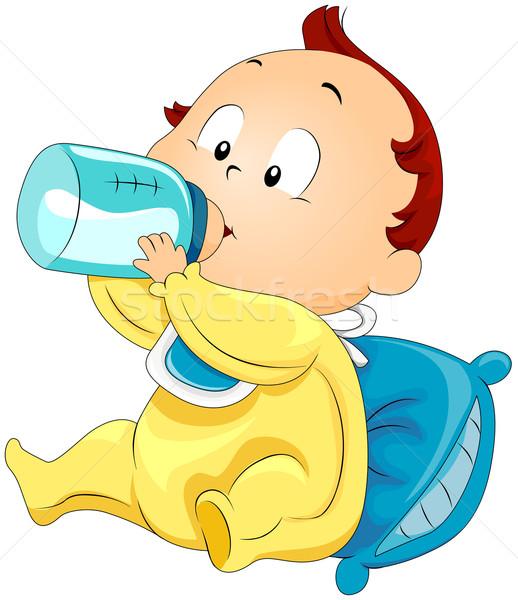 ストックフォト: 赤ちゃん · 飲料 · ミルク · 子 · 子供