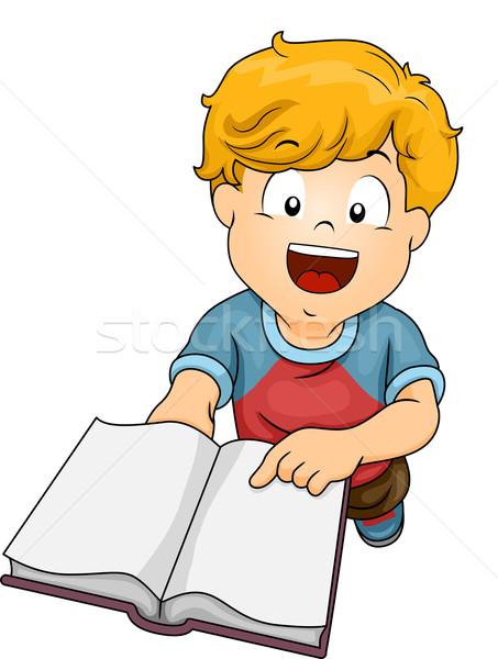 Leitura solicitar ilustração menino alguém Foto stock © lenm