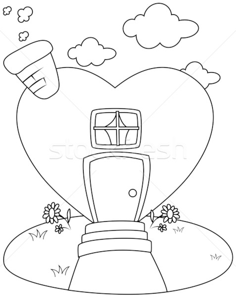 Line Art Heart Shape : Educational material stock photos images and