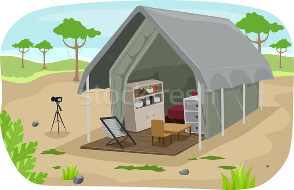 Safari Lodge Tent Stock photo © lenm