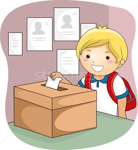 Copil băiat alegere vot ilustrare Imagine de stoc © lenm