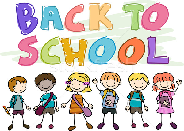 Back to School Doodle Stock photo © lenm