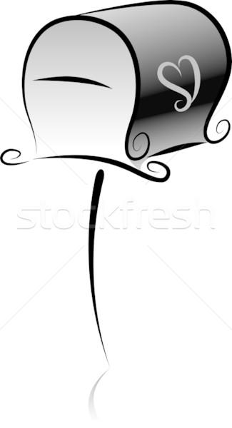 Poczty sylwetka ilustracja komunikacji po ikona Zdjęcia stock © lenm
