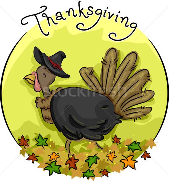 Thanksgiving Turkey Icon Stock photo © lenm