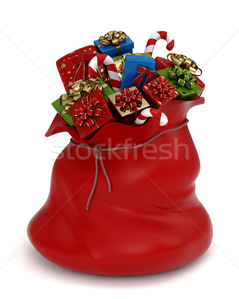 Stock photo: Bag of Gifts