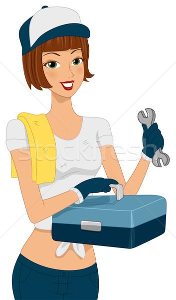 ツール キット 少女 実例 メカニック ストックフォト © lenm